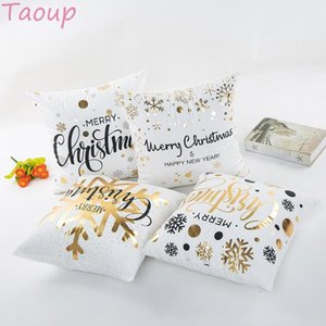 Taoup 1pc Snowflake Merry Christmas Pillowcase Pendants Drop Ornaments Christmas Decor for Home Noel 2020 Navidad Xmas Products
