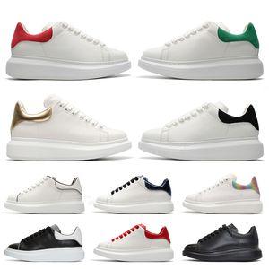 Luxus-Leder-Frauen-Männer-Plattform-Designer-Schuhe SatinAlexanderMcQueen Suede Rot Grün Gold Schwarz Run Schuhe Sneaker Turnschuhe
