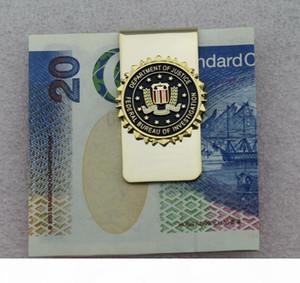 مؤسسة التحقيقات الفيدرالي الأمريكية قسم العدل شارة معدنية FBI Money Clip