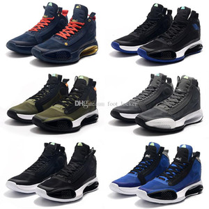 Top quality Jumpman XXXIV 34 Eclipse Bred Blue Void Retro Basketball Shoes 34s Zion Williamson Mens Designers Sneakers
