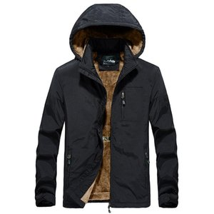 2020 Winter Fashion Men Woolen Lining Hooded Trench Casual Thick Jacket Men 2 Colors J0528-558-A