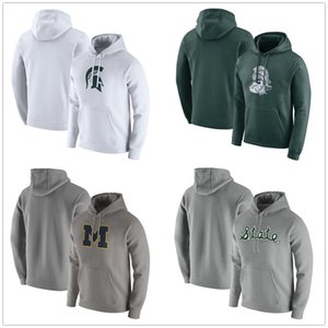 Michigan State Spartans Mens Hoodie Michigan Wolverines Pullover Hoodie Langarm Pullover Mode Pullover navy