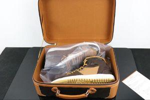 (مع مربع) وصول جديد 1 1 ثانية رجل كرة السلة الأحذية ثلاثة محدودة الأزياء أحذية رياضية المدربين الأحذية الرياضية الأبيض الحجم 7-12 مجانية دي إتش إل مجانا