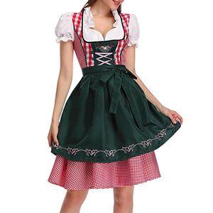 Frauen Oktoberfest Kostüm-Kleid Deutsch Oktoberfest Dirndl Tavern Kleid Cosplay Kostüm-Partei-Kleid