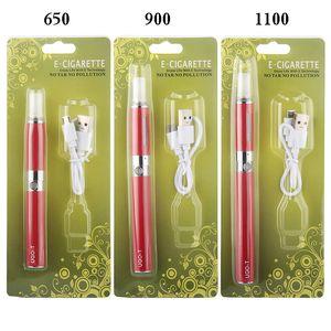 eGo MT3 Blister Kits 650mah 900mah 1100mah UGO T Rechargable Vaporizer Pen Starter Kit Evod eGo CE4 CE5 MT3 Blister Pack Price E Cigs