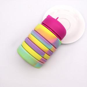 Tragbare Faltwasserflasche Teleskop-Silikon-Wurfwiderstand Exquisite Tasse Originalität Umweltfreundliche Tassen Beliebte Heißer Verkauf 19YF J1