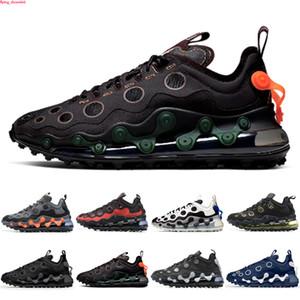 Max 720 ISPA Vaca preta refletir prata 720 ispa mens tênis sapatos cimeira branca prata metálica 720s homens mulheres treinadores esportes sneakers 36-45