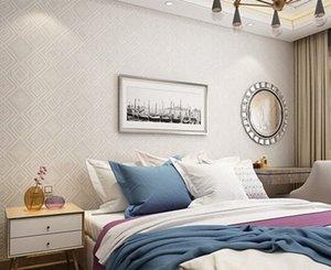 Paysota Moderna tela escocesa textura 3D papel tapiz en relieve dormitorio sala de estar sofá fondo fondo decorativo wallpaper roll ulvq #