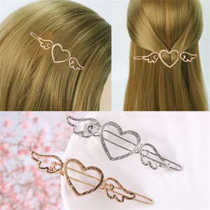 Hollow Out Wing Hair Edge Clips Jewelry Accessories Heart Shaped Retro Alloy Women Hairpin Love Simplicity Fashion 0 75ly M2