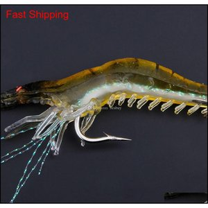 90mm 7g simulação macia camarão camarão pesca flutuante em forma de gancho isca isca biônico camarão artificial iscas com Qyltkw alice_bag