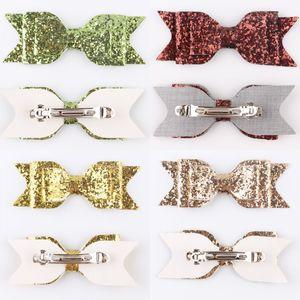 Mädchen Pailletten Big Bow Hairclips Mode Kinder Frauen Glitter Bogen Haarspange Glänzende Mode Zubehör Barrettes Kopfschmuck HA698 366 K2