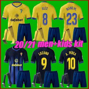 Men + crianças kit 2020 de futebol Cadiz jerseys Cádiz CF 20 21 LOZANO ALEX Bodiger Juan Cala CAMISETA Ascenso A LIGA SANTANDER camisas de futebol