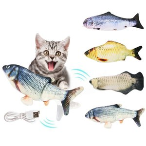 Creativo Pet Cat Toy USB Carica Simulazione Dancing Moving Floppy Fish Cats Toy for Cat Interactive Toy