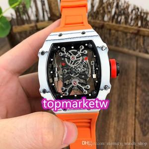 Высокое качество Производитель New Limited Top версия RM 27-01 Надаль Ntpt углеродного волокна Корпус Skeleton Циферблат Miyota Автоматическая RM27-01 Мужские часы Or