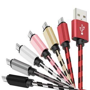USB مايكرو بيانات كابل الشحن لشحن البطارية مزامنة خط للهاتف المحمول 1M 3FT 2M و 6ft 3M 10FT