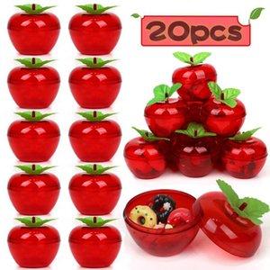 웨딩 파티는 20PCS 애플 컨테이너 장난감 채워진 플라스틱 보빈 장식 과일 나무 사과 생일 / 웨딩 장식을 부탁