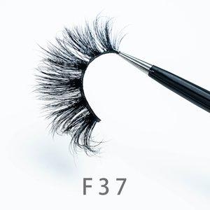 [Mink False Eyelashes-F37]3D False Eyelashes with Eyelash packaging Mink Lashes Hot Dramatic Thick Natural Lashes Wispy Fluffy Eye Makeup