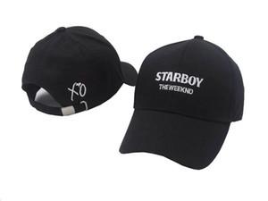 100% algodão os chapéus de starboy do weeknd e stargirl chapéus xo paizinho chapéu baseball caps snapback hip hop caps homens e mulheres verão