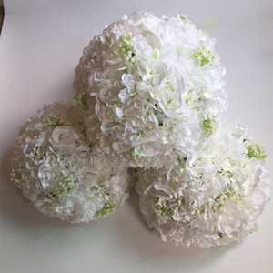 New Artificial flower ball centerpieces rose hydrangeas for wedding party backdrop decoration