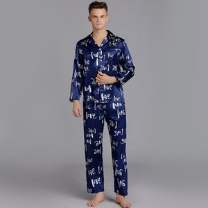 Cardigan Lazer Men Silk do Pijama Tops de Homens Plus Size Sets Men Pijamas Mens Pajama Men Pijamas Sexy pijama