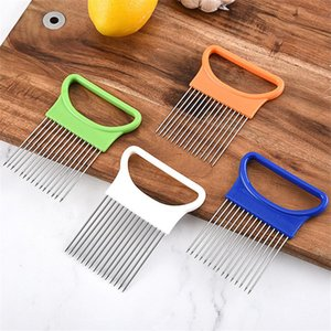 Новые кухонные гаджеты лука Slicer Tomato овощи сейф вилка овощи нарезки режущие инструменты DHE3449