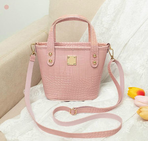 Fashion Women Bucket Mini Lady Shoulder Bags PU Leather Girl Shopping Handbags Small Totes