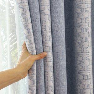 Современный Chenille Jacquard High Shanter Window занавес занавес занавес для гостиной для спальни гостиной Rideaux Chambre LJ201224