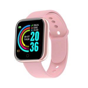 Y68 Bluetooth Digital Smart Watchs Мужчины Женщины Дети Смарт Браслет Часы HR / BP Часть Водонепроницаемый SmartWatch Fitness Tracker 201124