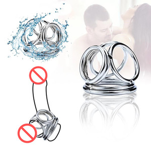 Men Private Good Nozzles on the Penis 3 Ring Male Chastity Belt 23 mm 32 mm Cock Ring for Shaft New Ball Stretchers for Male
