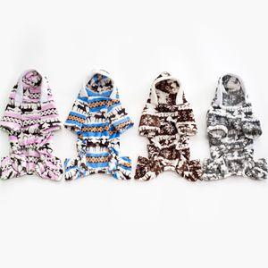 Print Pet Dog Warm Clothes Puppy Jumpsuit Hoodie Coat Doggy Apparel Keep Warm Dog Clothes Pet Clothes