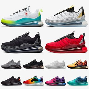 2020 Top Fashion MX 720 818 Женщины Мужские Бегущие Обувь Nik Всемирно Белый Металлический Серебристый Черный Серый Университет Красные спортивные Тренеры Кроссовки