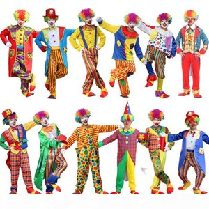 Costumes Terno NoEnNameNull férias Variety engraçado Clown Costume Adult Man Woman Joker Costume Cospaly Party Dress Up Palhaço