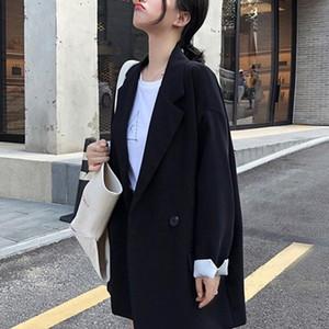 Женские костюмы Blazers плюс размер костюма женщин женские базовые пальто 2021 пиджак пиджак туреоуправление весна Casacos Femininos Office Lady черная одежда