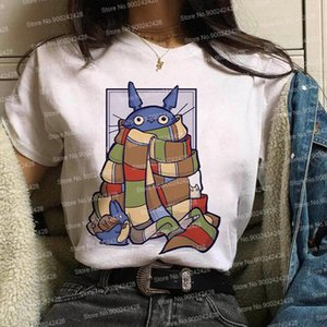 Fashion My Neighbor Totoro Spirit Away t shirt women Studio Ghibli Characters T shirt Japanese Cartoon Anime Miyazaki Hayao Tops