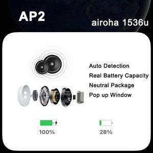 الهواء الجنرال 3 AP2 H1 1536u رقاقة معدنية الشفافية المفصلي لاسلكي شحن سماعات بلوتوث سماعة القرون AP برو AP3 W1 سماعات الأذن 1562 رقاقة