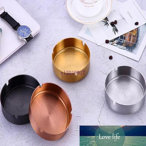 Diameter 10CM Ashtray Stainless Steel Ashtray PVD Plated Gold Copper Black Bar Ash Tray Ashtrays Novelty Items#22