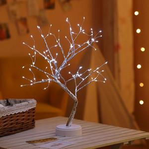 LED USB Fogo Árvore Luz de fio de cobre Tabela Lâmpadas Luz Noite de Festa de Casamento Interiores Quarto Decoração de Natal Bar 5pcs T1I2963