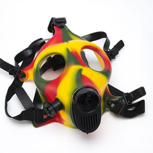 DHL Gas Mask Masks smoking mask Water Pipes Sealed Filter Smoking Pipe only silicone mask brosglass SKGA125