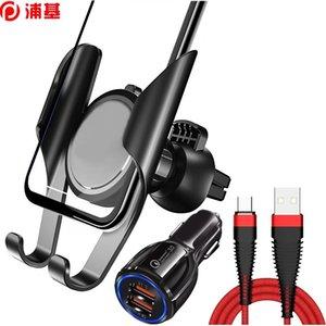 Titular do telefone do carro Suporte de telemóvel de montagem de ventilação de ar universal para iphone 8 x 6 11 PRO MAX GRAVITY REACÇÃO