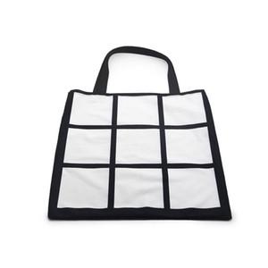 Blank sublimazione Griglia Tote della borsa stampa a trasferimento termico Sudoku Borsa della spesa riutilizzabile Large Bag storage GridView borsa F102001