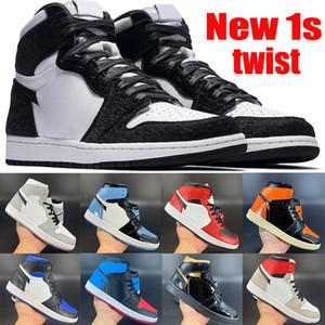 Nouvelle arrivée 1 1s jumpman chaussures de basket-ball noir métallique or mi gris fumée clair OG TOKYO Chicago toe UNC brevet hommes baskets pour femmes