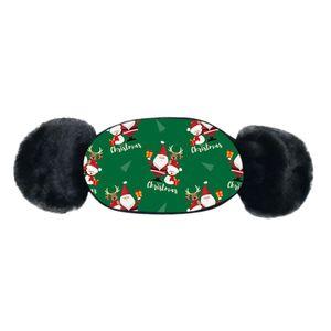 Natal Máscaras de impressão crianças Inverno Quente Plush Máscara Facial dos desenhos animados Facemask Baby Boy menina Boca-de mufla Earmuff Windproof Ear Warmer VENDA OWF2541