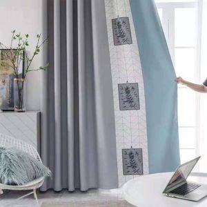 Cortinas nórdicos modernos for Living comedor Dormitorio personalización de productos de costura sin fisuras de chenilla tela de algodón Cortinas