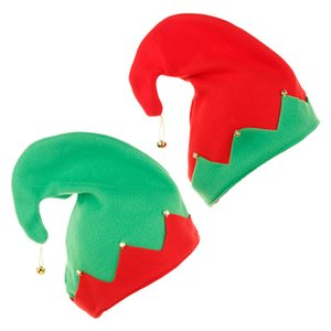 Christmas Elf Felt Hat Christmas Spirit Hat Jingle Bells Xmas Holiday Party Costume Favors Gifts Accessoriess