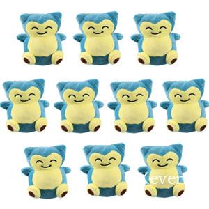Cartoon Snorlax 10 Pcs Lot Mini Plush Pendant with Keychain Cute Small Stuffed Dolls 10 cm