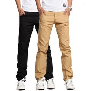 Erkek pantolon 2021 tasarım rahat erkekler pamuk ince pantolon düz pantolon moda iş katı haki siyah artı boyutu 381