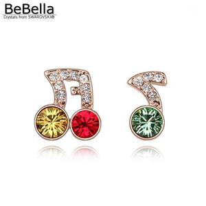 Bebella Stud Music Note Boucles d'oreilles Boucles d'oreilles fabriquées avec des éléments1