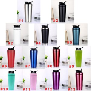 Shake Cup 750ml Vacuum Insulated Mug 304 Stainless Steel Sports Thermos Protein Milk Coffee Cup Shaker Bottle with Lid DHL