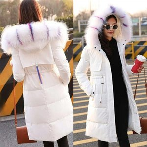 Fashionable High Quality hooded down coat ladies Parker Jacket Large Collar Trim Winter Top Warm Fur Lined Coats