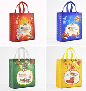 Non-Woven Holiday Gift Bags Reusable Christmas Gift Handbag Holders Tote XMAS Party Favor Bag present wrap Large SIZE lin4394
